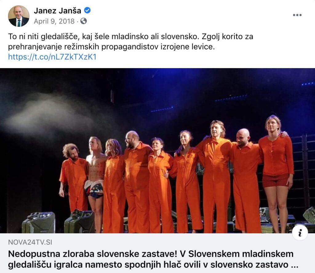 Janez Janša o gledališču