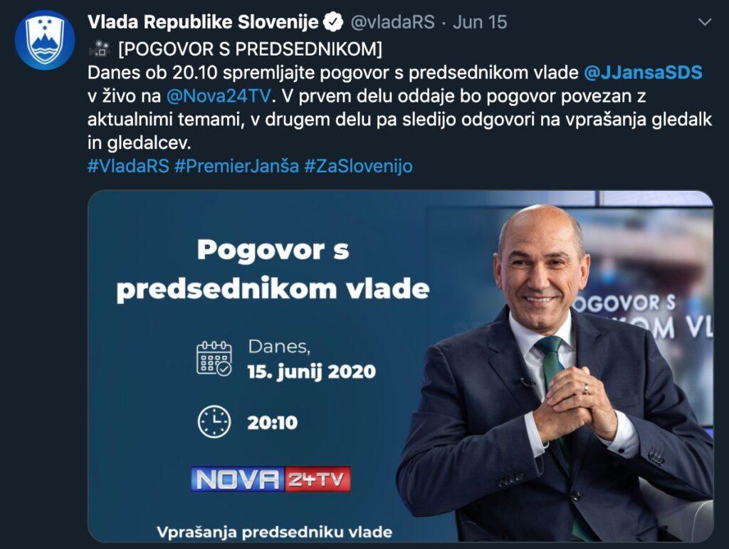 Janez Janša kot @VladaRS